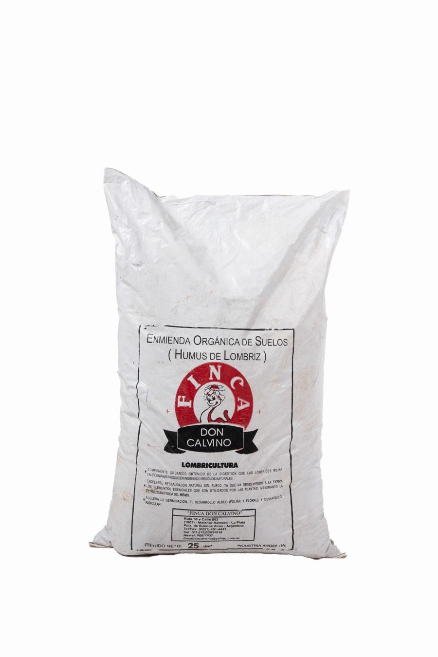 Humus de lombriz (enmienda orgánica de suelos)