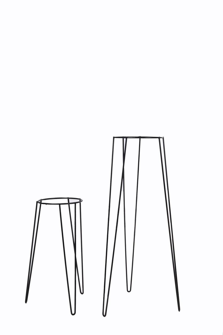 Portamacetas de hierro