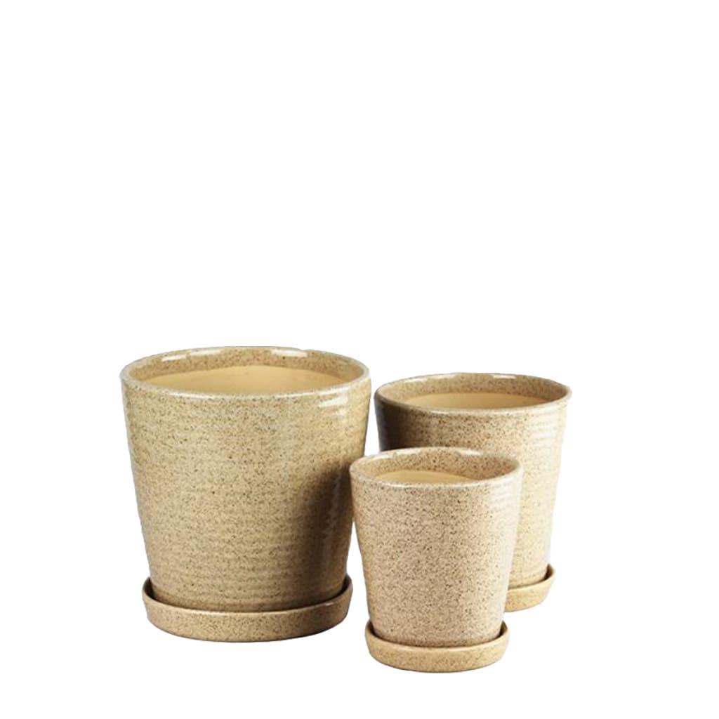 Plantas Faitful Macetas Ceramica Conica Arena - Plantas Faitful