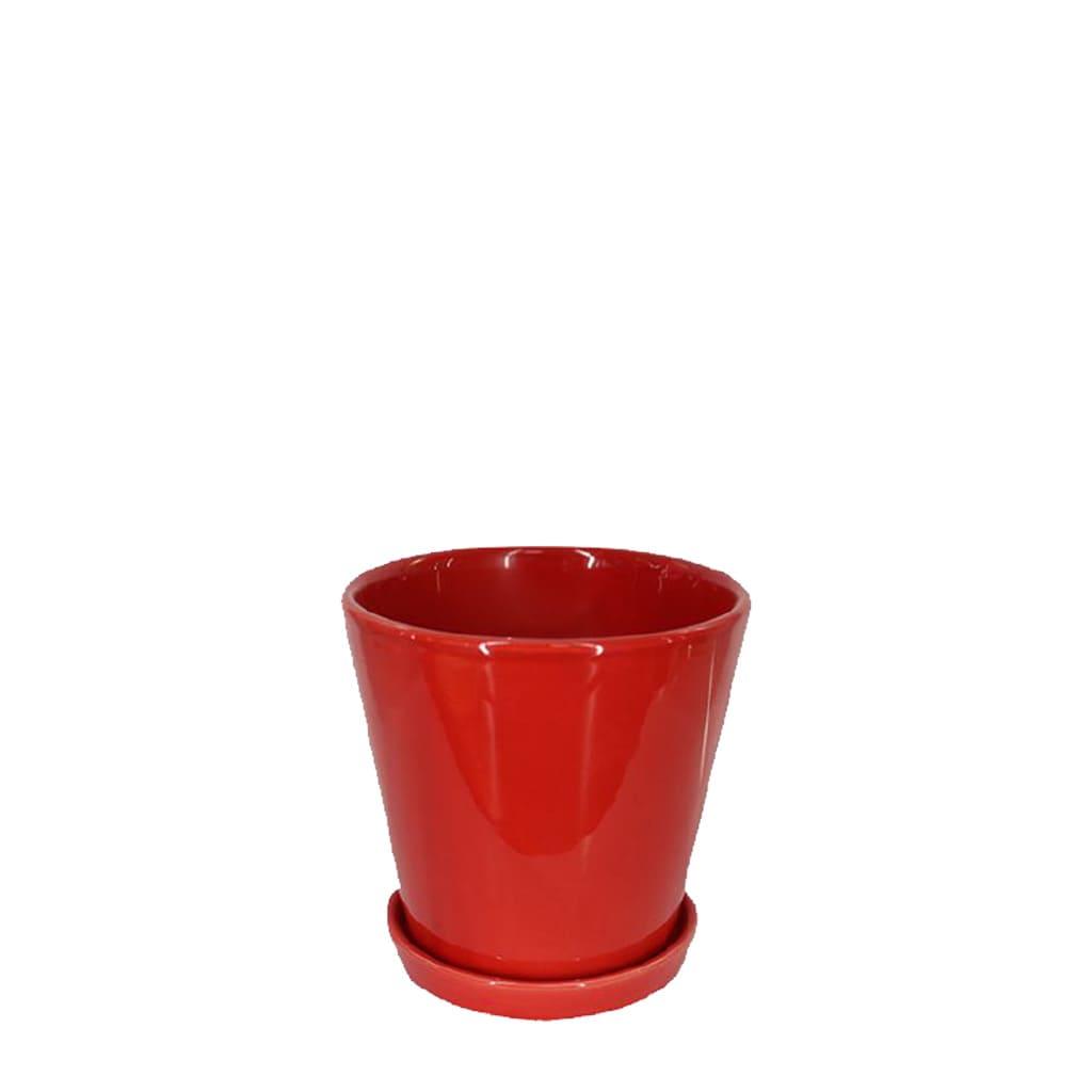 Plantas Faitful Macetas Ceramica Conica Roja - Plantas Faitful