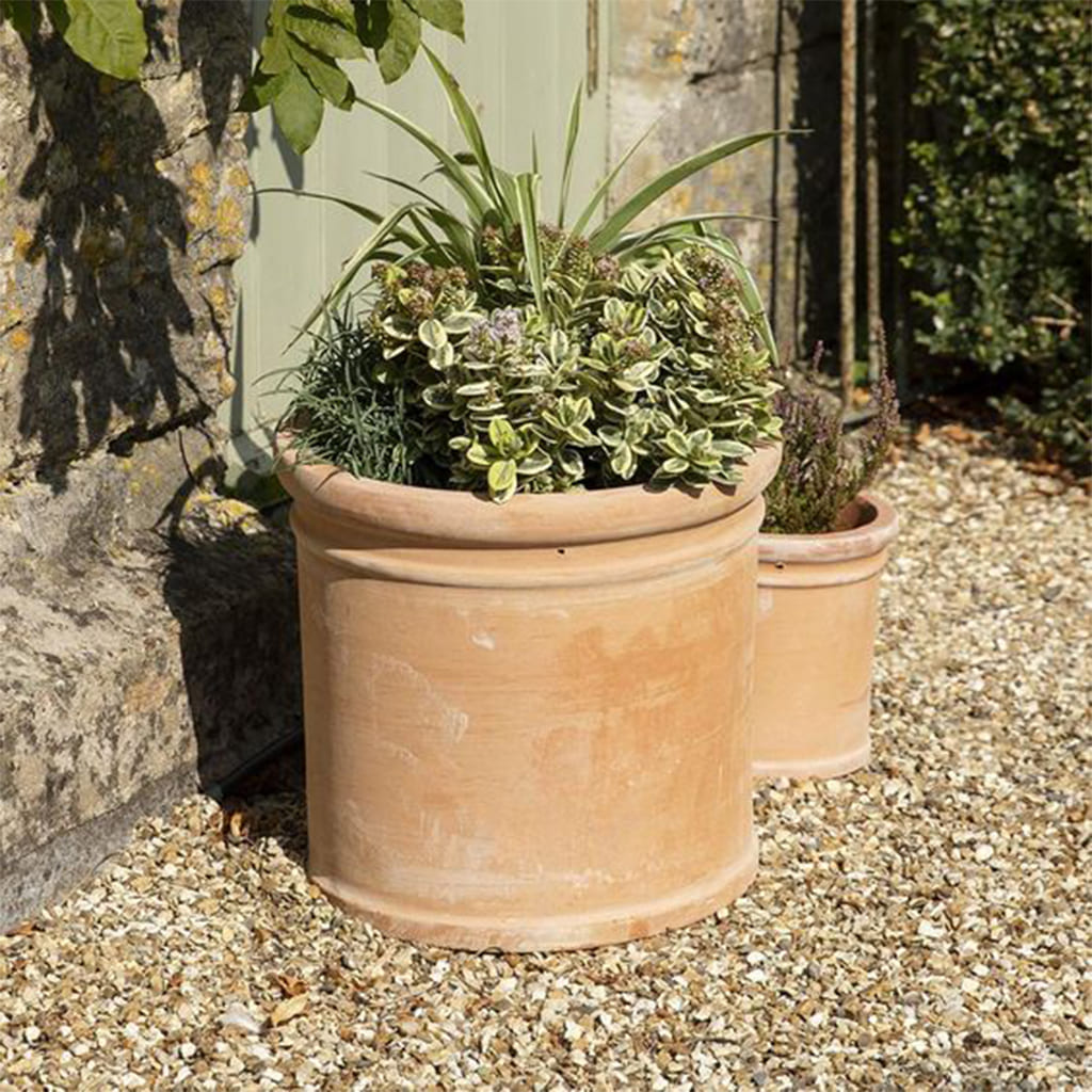 Plantas Faitful Macetas Barro Colonial Cilindro Aro - Plantas Faitful